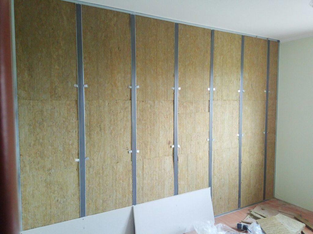 монтаж шумоизоляция стены