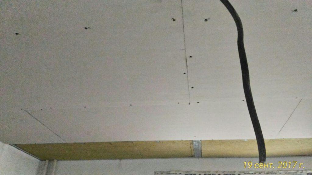 звукоизоляция потолка, обшивка ГКЛ